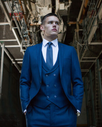 Xavi Navy 3 Piece Suit