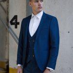 Xavi Navy 3 Piece Suit