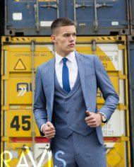 Xavi Petrol 3 Piece Suit