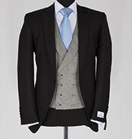black wilvorst louge suit