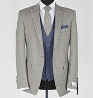 light grey with navy waistcoat