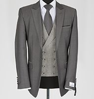 mid grey double breasted wsaistcoat