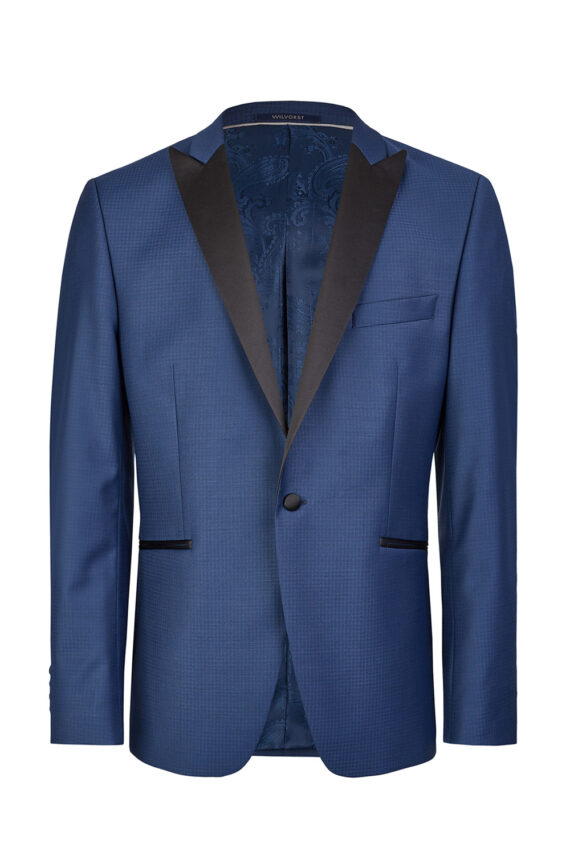 Blue Micro-pattern 3 Piece Tuxedo