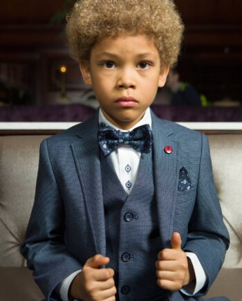 Moskow Navy 3 Piece Boys Suit