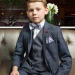 Oslo Grey Check 3 Piece Boys Suit