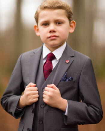 Hogan Grey 3 Piece Boys Suit