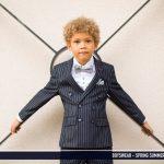 McGregor Navy Pinstripe 3 Piece Boys Suit