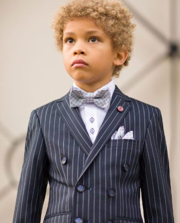 McGregor Navy Pinstripe 3 Piece Boys Suit