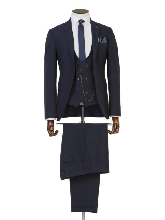 Hendrick Navy 3 Piece Suit