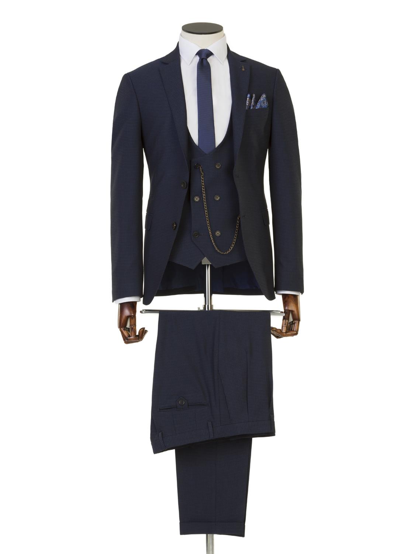 Hendrick Navy 3 Piece Suit