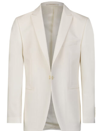 White Dinner Jacket with Side Vents