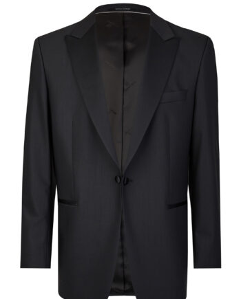 Black Tuxedo Smoking Jacket 3 Piece Suit