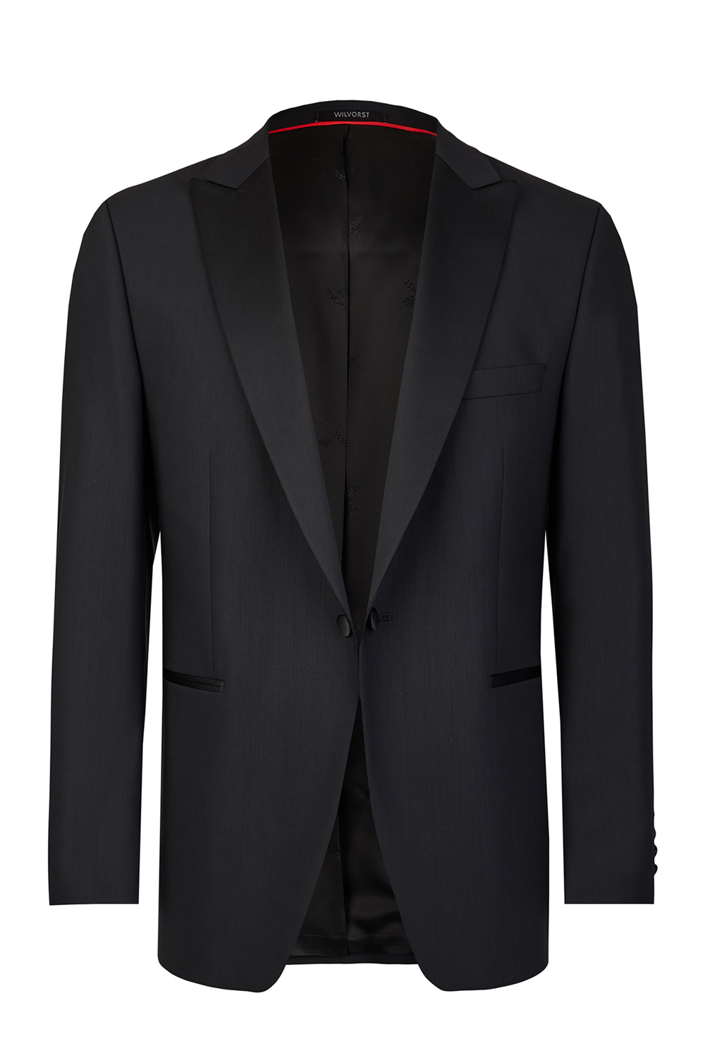 Black Tuxedo Slim Line Smoking Jacket