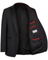 Black Tuxedo Slim Line Smoking Jacket  401201_1_7051_2