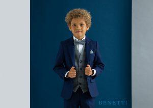 James Petrol Blue Boys 3 Piece Suit