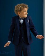 James Navy 3 Piece Boys Suit