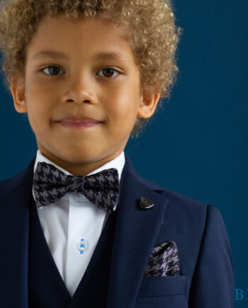 James Navy 3 Piece Boys Suit