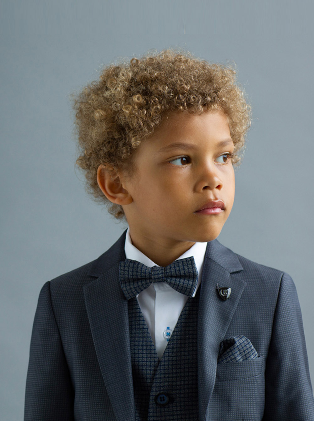 James Grey Tweed Boys 3 Piece Suit
