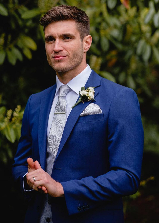 James Petrol Blue 3 Piece Suit
