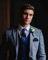 Maradonna Grey Check 3 Piece Suit