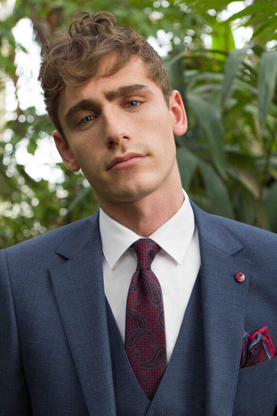 Sergio Navy Tweed 3 Piece Suit