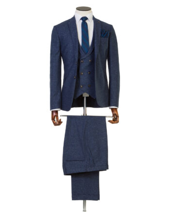 Bale Smoke Blue Tweed 3 piece suit