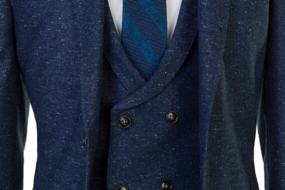 Bale Smoke Blue Tweed 3 piece suit