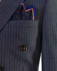 Best Smoke Grey Pinstripe Double breasted suit