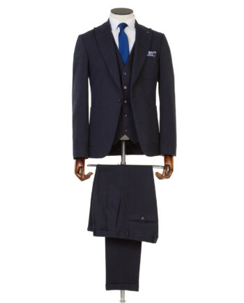 Ormond Navy Tweed 3 piece suit