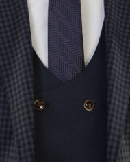 Robben Navy Check Tweed 3 piece suit