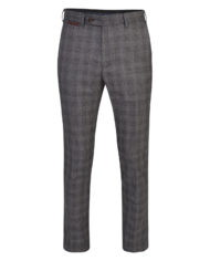 Charcoal & Burgundy Glencheck 3 Piece Suit