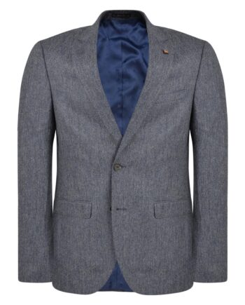 Grey & Navy Donegal Tweed 3 Piece Suit
