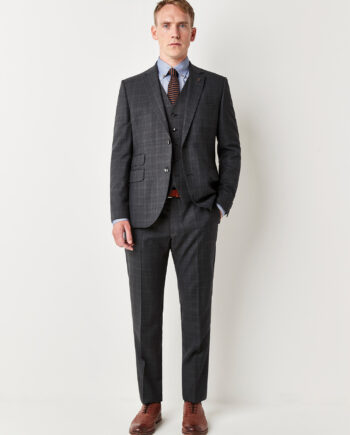Grey Check 3 Piece Suit