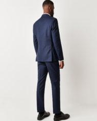 Navy Blue Check 3 Piece Suit
