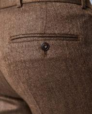 Coffee Herringbone 3 Piece Suit