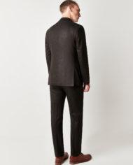 Green Brown Herringbone 3 Piece Suit