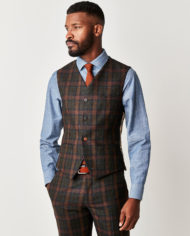 Oxford Marquee Green Tartan Check 3 Piece Suit
