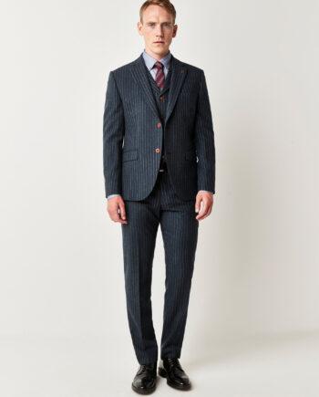 Blue Stripe 3 Piece Suit