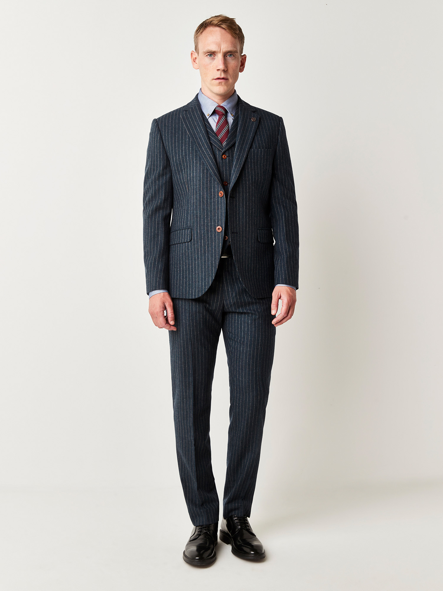 Blue Stripe 3 Piece Suit