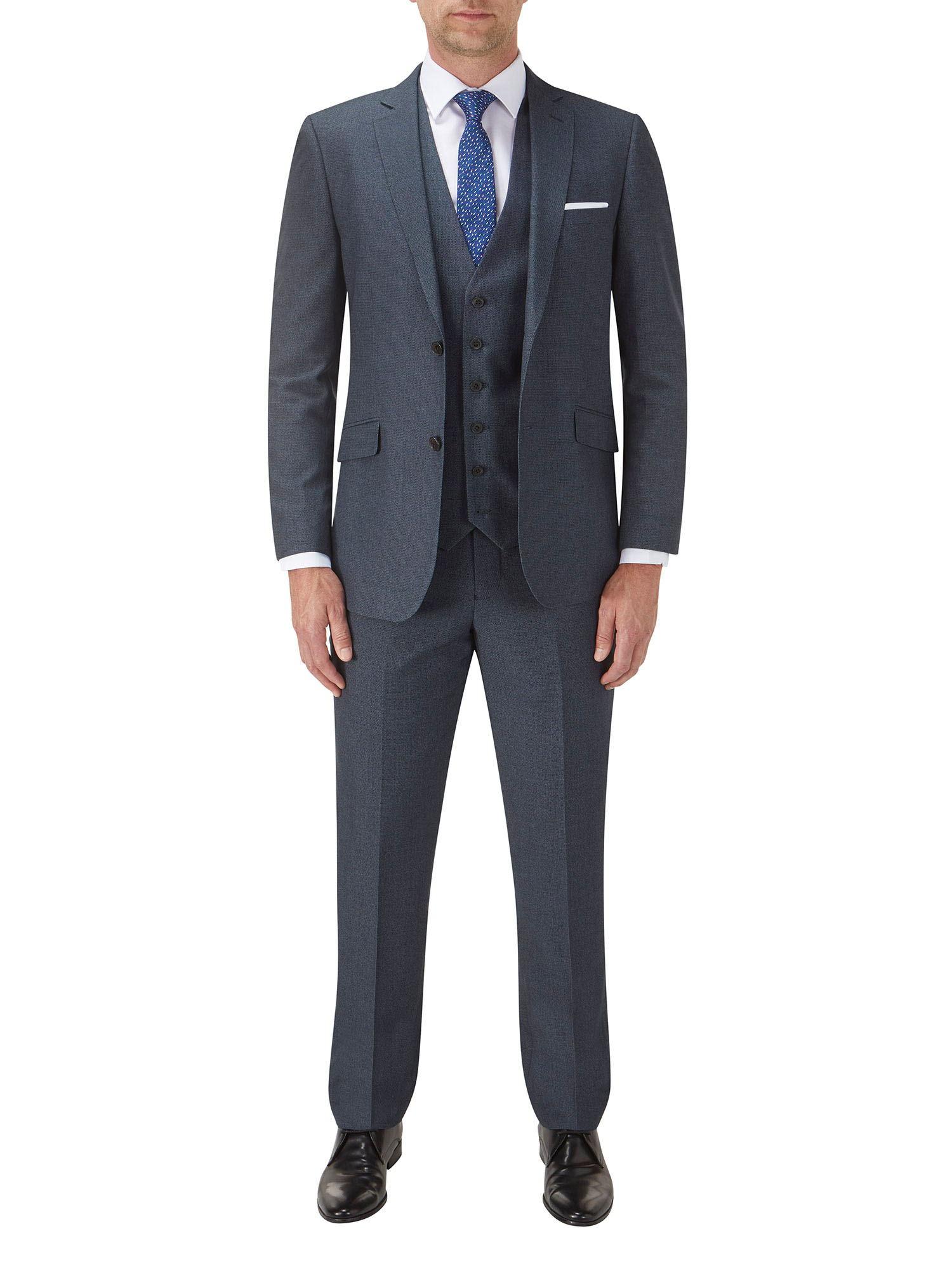 73e3be09f43a Harcourt Tailored Blue 3 Piece Suit - Tom Murphy's Formal and Menswear