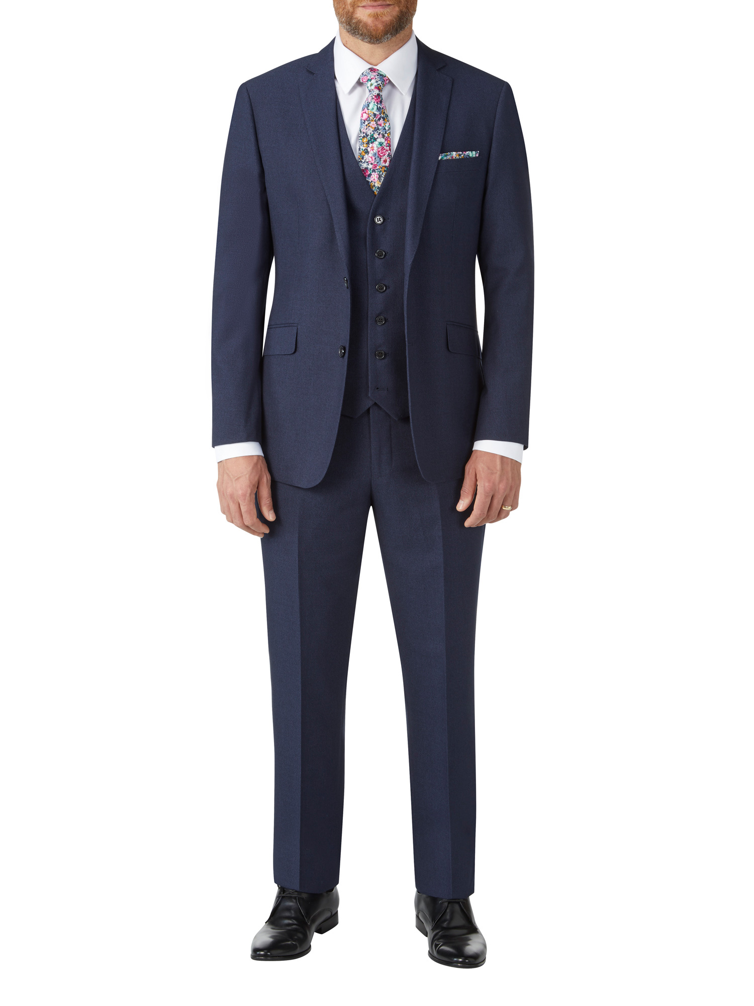 Harcourt Tailored Navy 3 Piece Suit