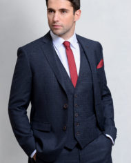 Charcoal Micro Check 3 Piece Suit