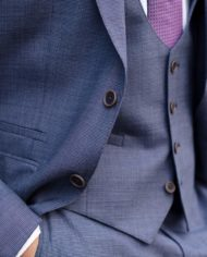 Steel-Blue-Steel Blue Magee Tweed 3 Piece Suit