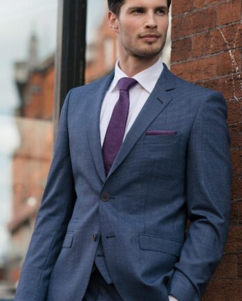 Steel Blue Magee Tweed 3 Piece Suit
