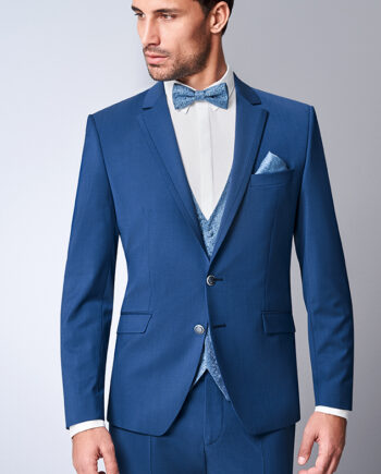 Azzurro Blue 3 Piece Wedding Suit