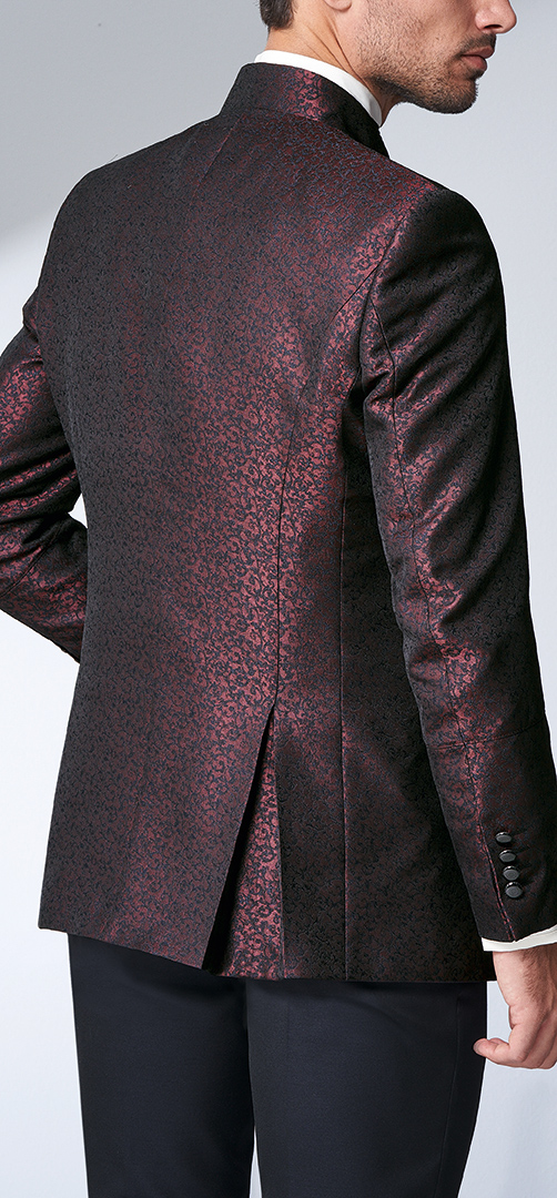 Barolo Red Floral Wedding Suit