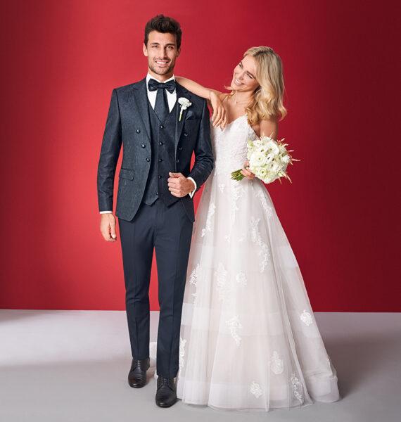 Black Floral 3 Piece Wedding Suit