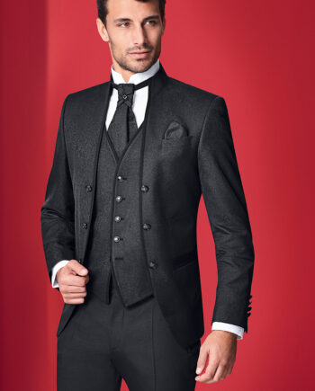Black Royal 3 Piece Wedding Suit