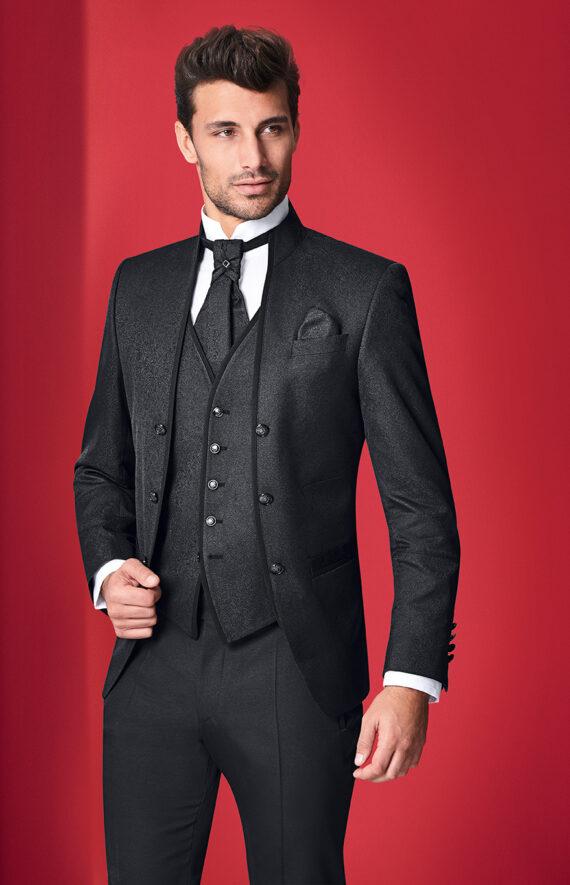 Black Royal 3 Piece Wedding Suit