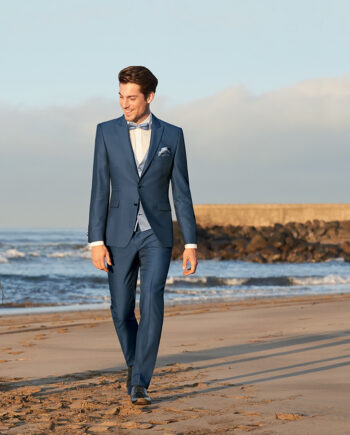 Blue Elegant Wedding Suit